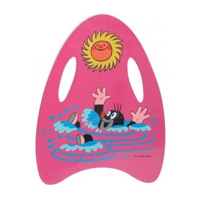 Wiky Plavací pěnová deska Krtek 33x45cm - růžová