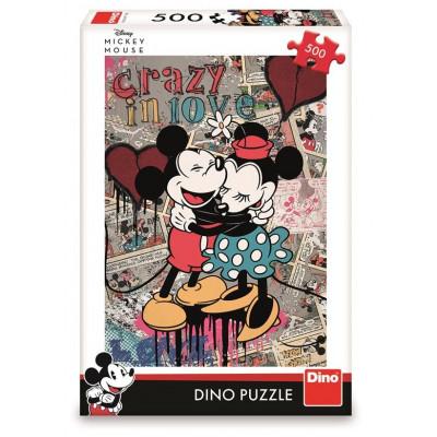 Dino Mickey retro puzzle 500 dílků