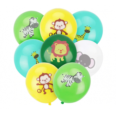 Balónky 5 ks - Safari zvířátka