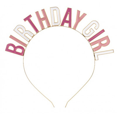 Narozeninová kovová čelenka - Birthday girl