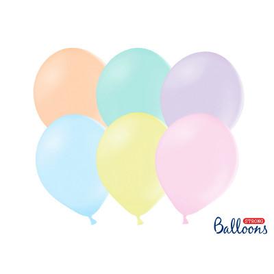 Nafukovací balónky 30 cm - mix pastelové - 50 ks