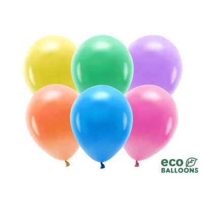 Eco nafukovací balónky 30 cm - mix barevné - 10ks