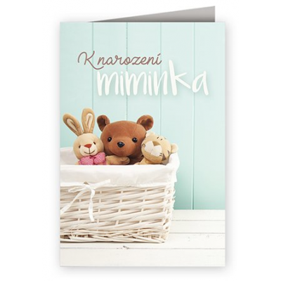 Přání - K narození miminka - zvířátka