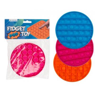 Fidget pop hračka - bubliny - kulatá