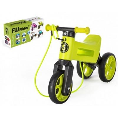 Odrážedlo FUNNY WHEELS Rider SuperSport 2v1+popruh - zelené