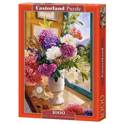 CASTORLAND Puzzle Zátiší s hortenziemi 1000 dílků