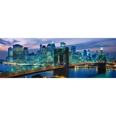 CLEMENTONI Panoramatické puzzle Brooklynský most, New York 1000 dílků