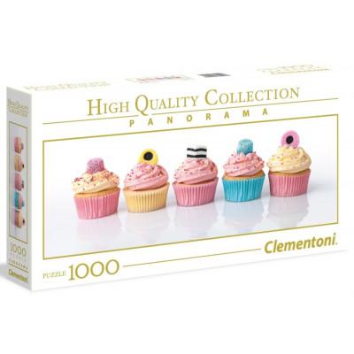 CLEMENTONI Panoramatické puzzle Lékořicové cupcakes 1000 dílků