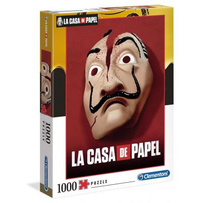 CLEMENTONI Puzzle Netflix: Papírový dům - Maska 1000 dílků