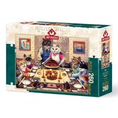 ART PUZZLE Puzzle Kočičí rodina 260 dílků