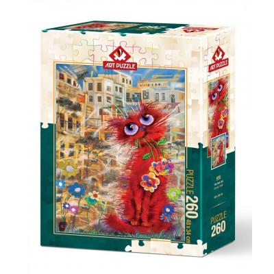 ART PUZZLE Puzzle Červená kočka 260 dílků