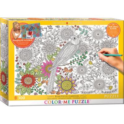 EUROGRAPHICS Color me puzzle Nádherná zahrada 300 dílků + sada na zavěšení