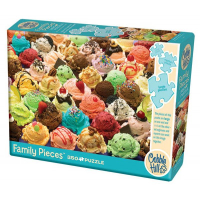 COBBLE HILL Rodinné puzzle Zmrzlina 350 dílků