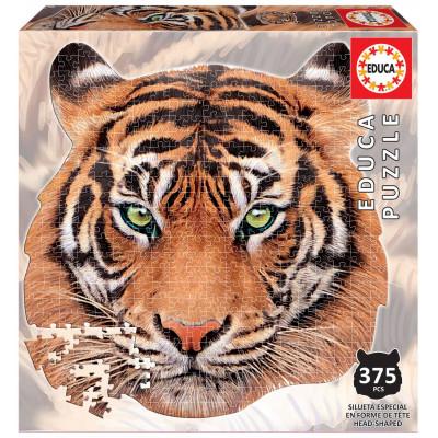 EDUCA Tvarové puzzle Tygr 375 dílků
