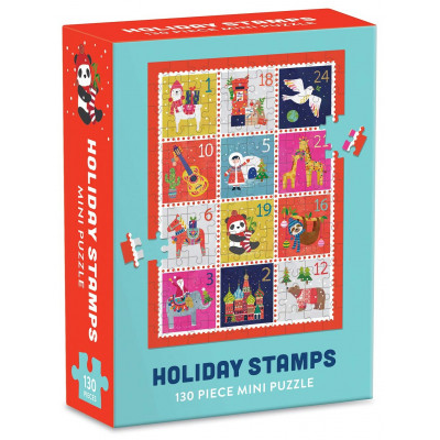 GALISON Puzzle Vánoční známky 130 dílků