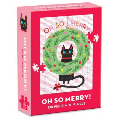 GALISON Puzzle Vánoční věnec 130 dílků