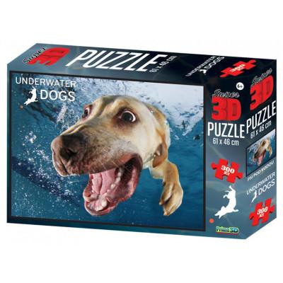 PRIME 3D Puzzle Pes pod vodou 3D 300 dílků