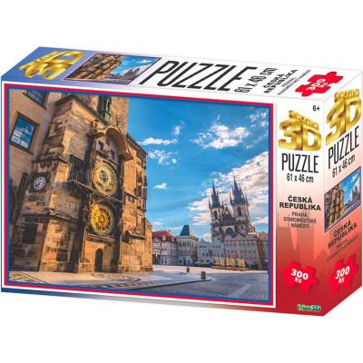 PRIME 3D Puzzle Staroměstské náměstí, Praha 3D 300 dílků