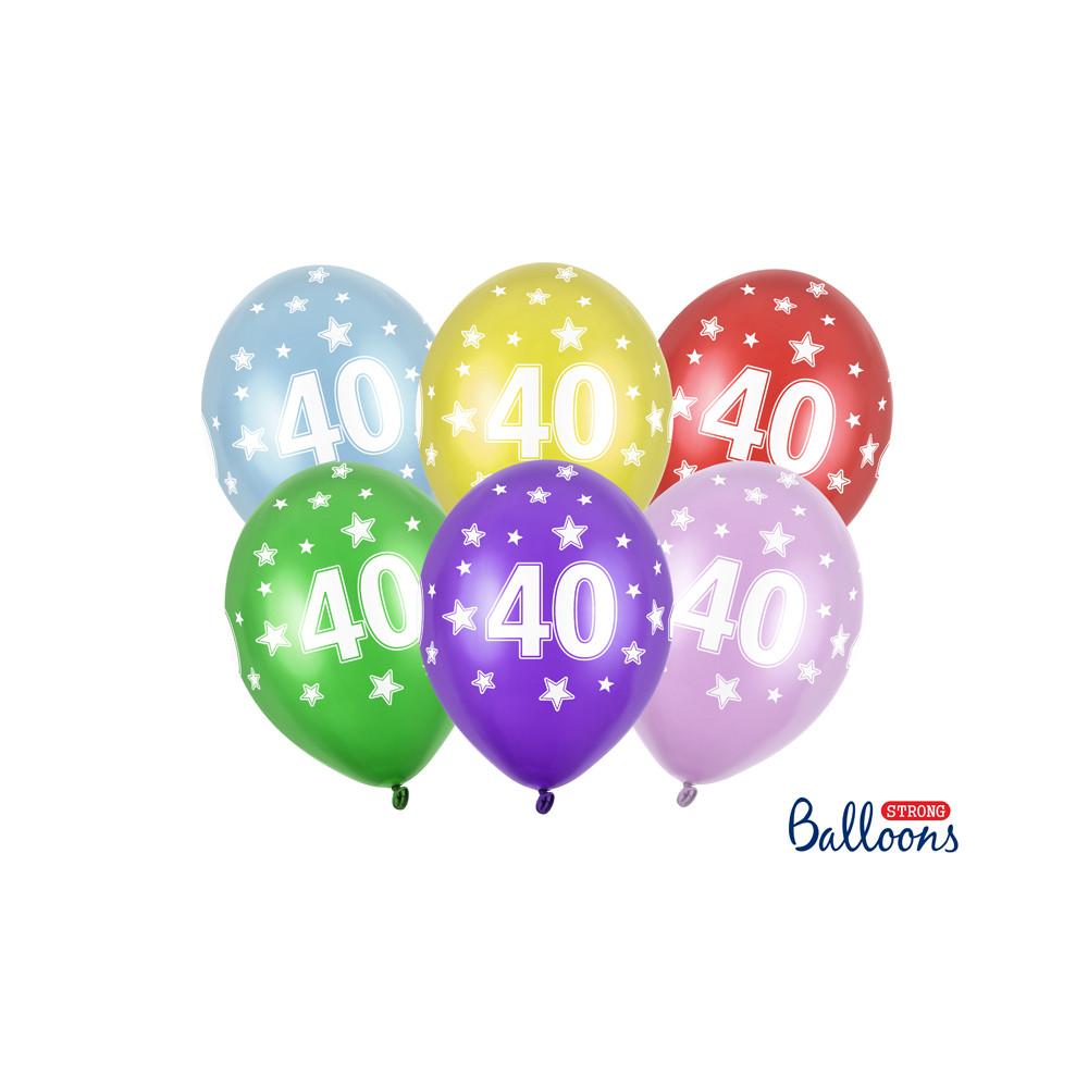Narozeninové balónky 6 ks - 40