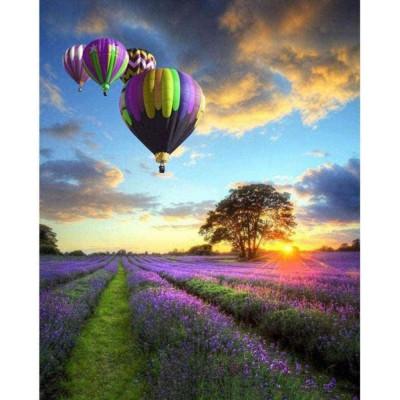 Diamantové malování - létající balón