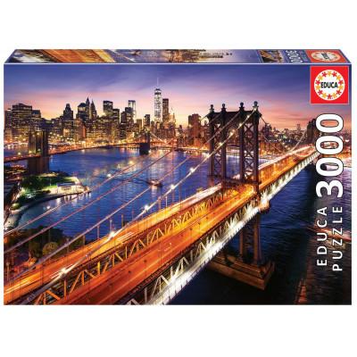 EDUCA Puzzle Soumrak na Manhattanu 3000 dílků