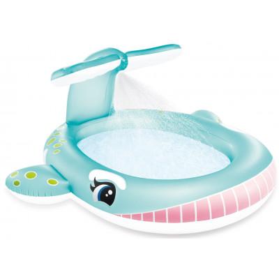 Intex 57440 Dětský bazén velryba s rozstřikováním 201x196cm