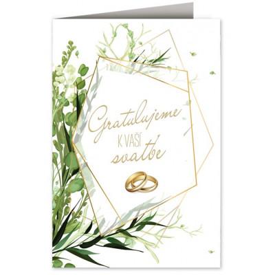 Svatební přání - Gratulujeme - prstýnky