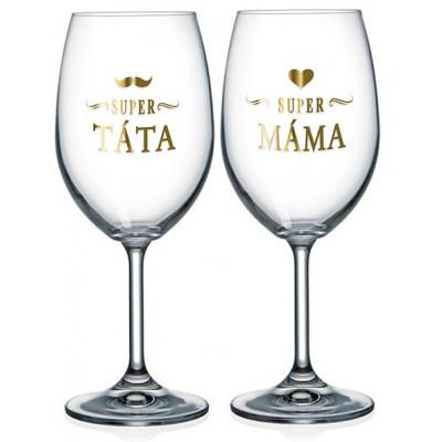 Nekupto Párové sklenice na víno - Táta a máma
