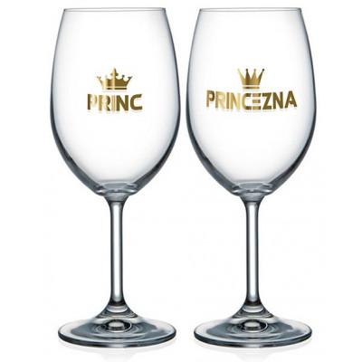 Nekupto Párové sklenice na víno - Princ a princezna