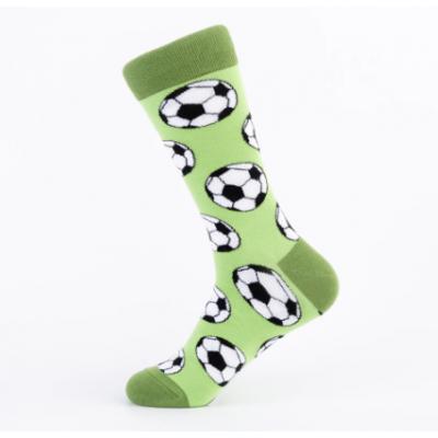 Veselé ponožky zelené - Fotbal