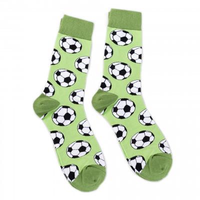 Veselé ponožky zelené - Fotbal - vel. uni