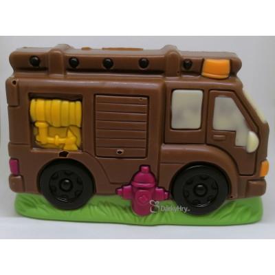 Čokoládové hasičské auto