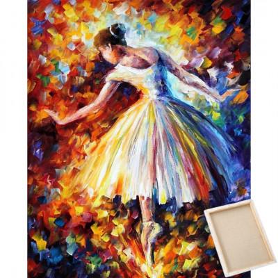 Diamantové malování s rámem - baletka