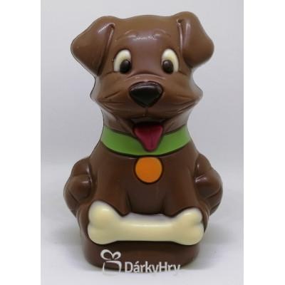 Čokoládový pes s kostí