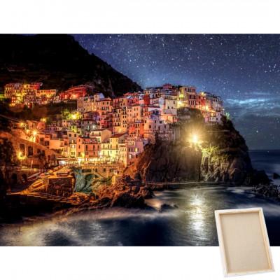 Diamantové malování s rámem - Cinque Terre