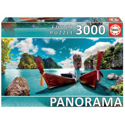 EDUCA Panoramatické puzzle Phuket, Thajsko 3000 dílků