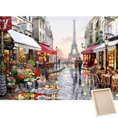 Diamantové malování s rámem - Eiffelova věž