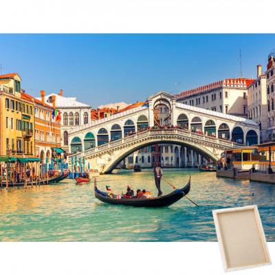Diamantové malování s rámem - Benátky