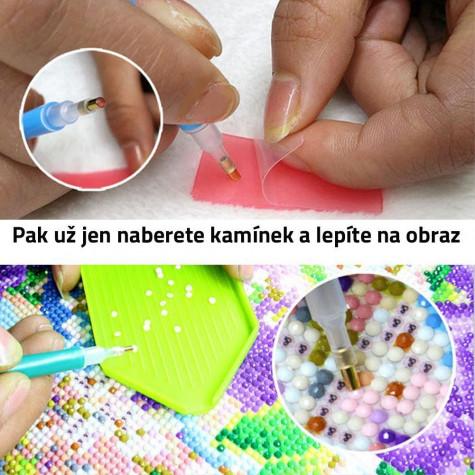Diamantové malování s rámem - strom