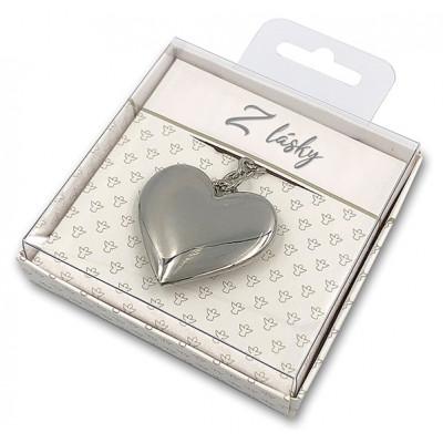 Nekupto Dárková klíčenka - Srdce - Z lásky