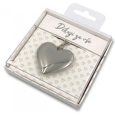 Nekupto Dárková klíčenka - Srdce - Děkuji za vše