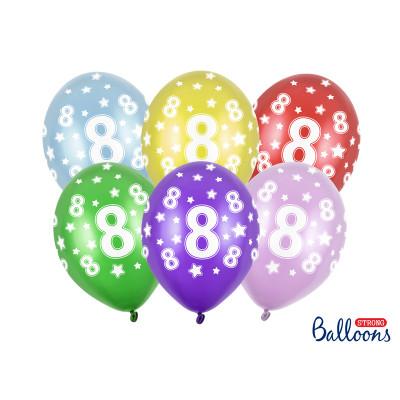 Narozeninové balónky 6 ks - číslo 8
