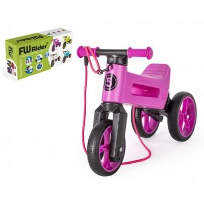 Odrážedlo FUNNY WHEELS Rider SuperSport 2v1+popruh - fialové