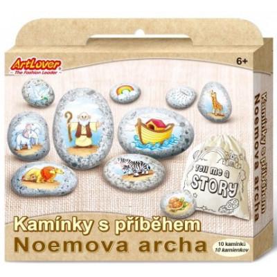 Malování na oblázky/kameny s příběhem - Noemova archa