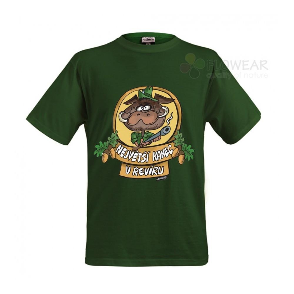 Tričko - Největší kanec - zelené