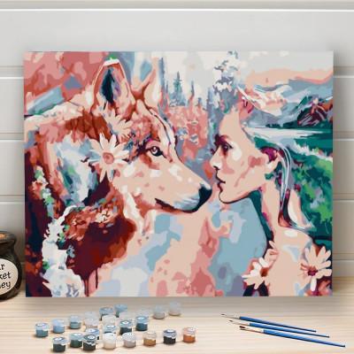 Malování podle čísel - vlk