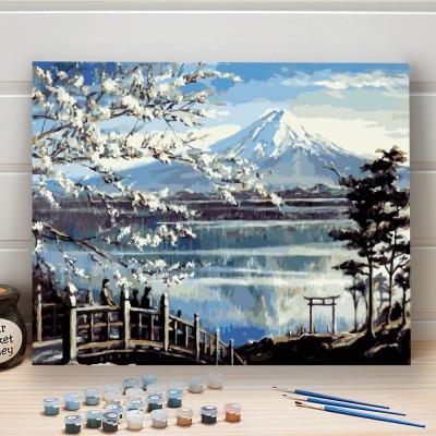 Malování podle čísel - hora