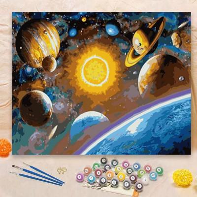 Malování podle čísel - vesmír