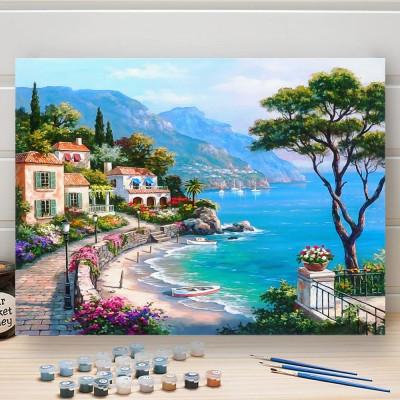 Malování podle čísel - pláž