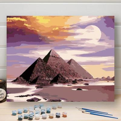 Malování podle čísel - egyptské pyramidy
